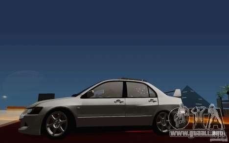 Mitsubishi Lancer Evo VIII GSR para visión interna GTA San Andreas
