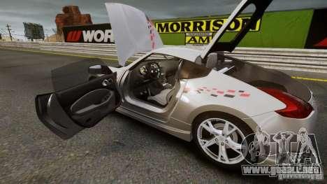 Nissan 370Z NISMO S-Tune para GTA 4 Vista posterior izquierda
