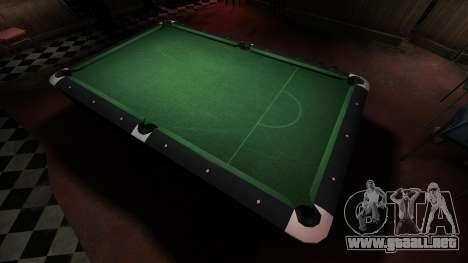 Mesa de billar superior en la barra de 8 bolas para GTA 4 tercera pantalla