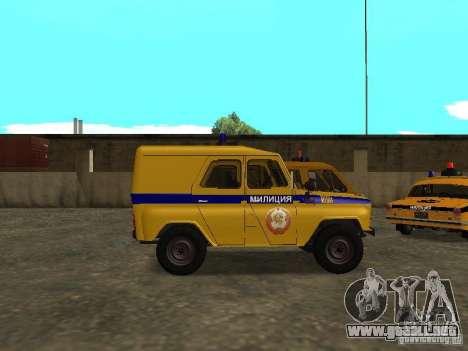 Policía UAZ 3151 para GTA San Andreas left