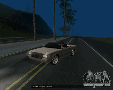 Feltzer v1.0 para GTA San Andreas vista posterior izquierda