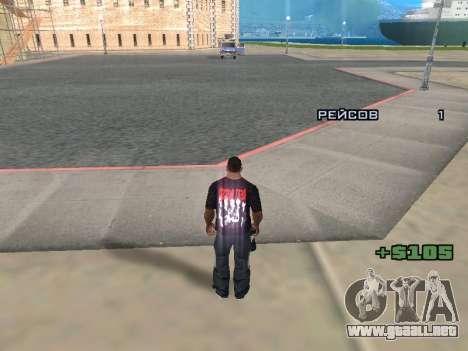 Reportero para GTA San Andreas sucesivamente de pantalla
