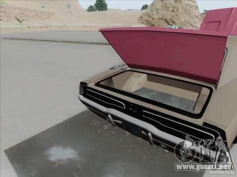 Dodge Charger 1969 para GTA San Andreas vista hacia atrás