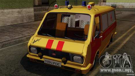 Ambulancia RAF 22031 Latvija para visión interna GTA San Andreas