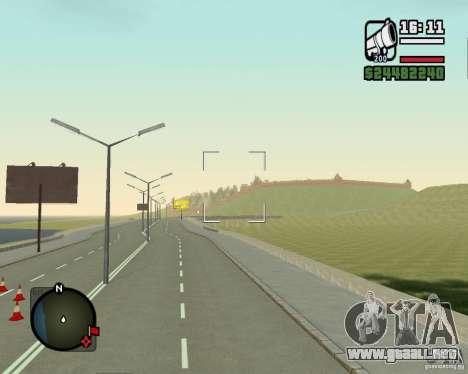 Gosport Road-Nižegorodsk para GTA San Andreas sucesivamente de pantalla