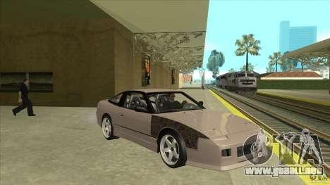 Nissan 240sx S13 JDM para GTA San Andreas vista hacia atrás