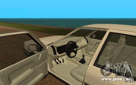 Renault 21 GTD para GTA San Andreas vista hacia atrás