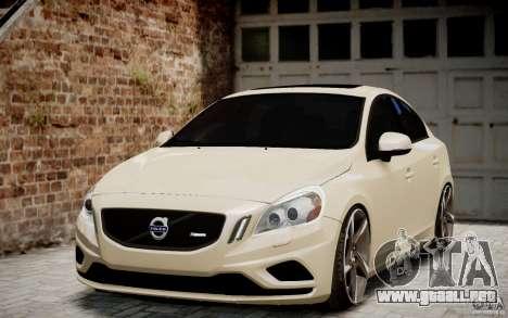 Volvo S60 R-Design 2011 para GTA 4 vista hacia atrás