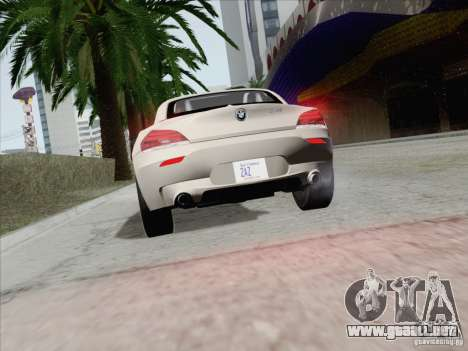 BMW Z4 2011 para vista lateral GTA San Andreas