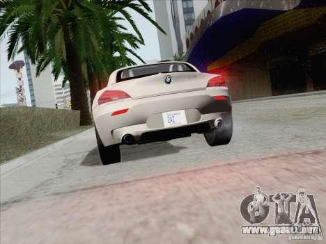 BMW Z4 2011 para vista lateral GTA San Andreas