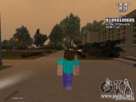 Steve para GTA San Andreas segunda pantalla