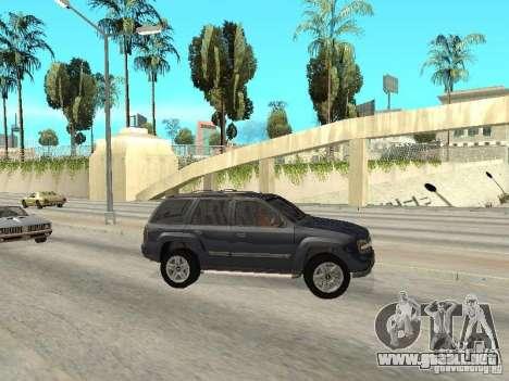 Chevrolet TrailBlazer 2003 para GTA San Andreas left