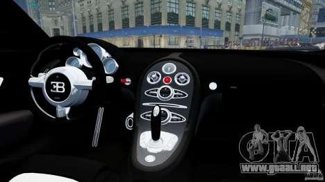 Bugatti Veyron 16.4 v1.0 wheel 1 para GTA 4 vista interior