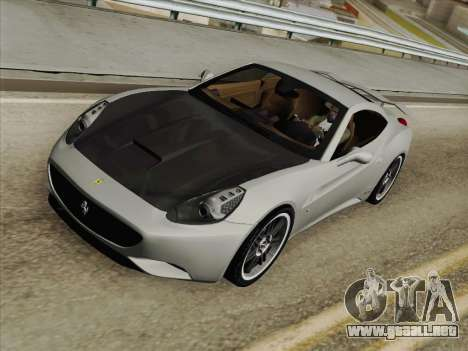Ferrari California para GTA San Andreas interior