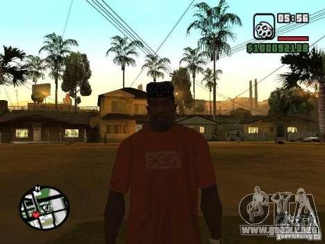 Rammstein camiseta v1 para GTA San Andreas sucesivamente de pantalla