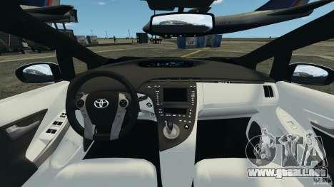 Toyota Prius NY Airport Service para GTA 4 vista hacia atrás