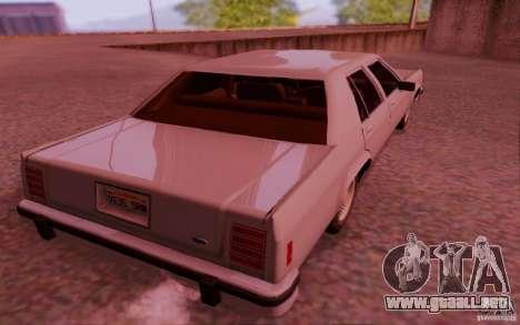 Ford Crown  Victoria LTD 1985 para la visión correcta GTA San Andreas