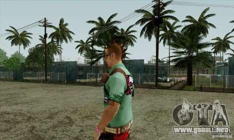 Piel sustituir Fam1 para GTA San Andreas tercera pantalla