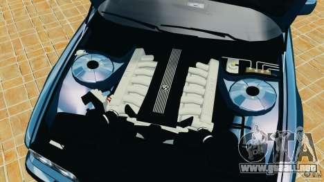 BMW 750iL E38 1998 para GTA 4 vista superior