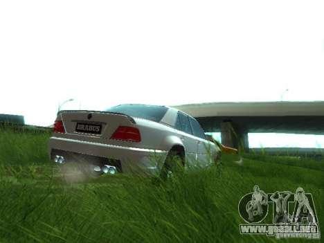 Mercedes-Benz W124 BRABUS para GTA San Andreas vista hacia atrás