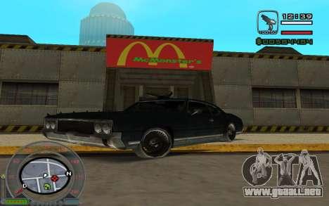 New Sabre para GTA San Andreas left