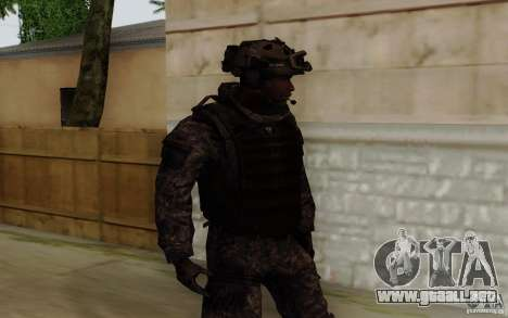 Sargento Foley de CoD: MW2 para GTA San Andreas segunda pantalla