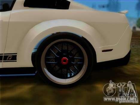 Ford Shelby GT500 SuperSnake NFS The Run Edition para GTA San Andreas vista hacia atrás