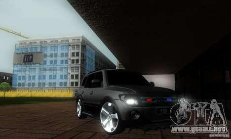 Mitsubishi Pajero FBI para GTA San Andreas vista posterior izquierda