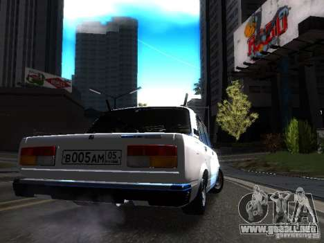 VAZ 2107 DAG para la visión correcta GTA San Andreas