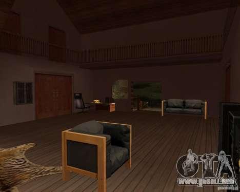Villa en la Laguna de pesca para GTA San Andreas séptima pantalla