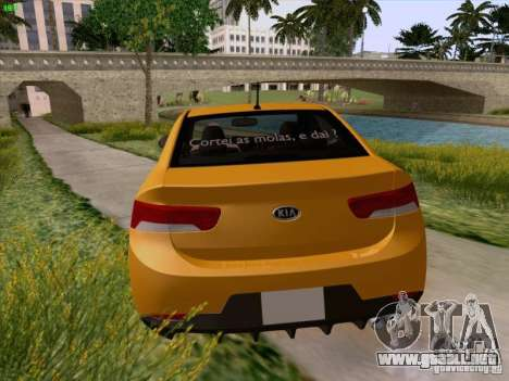 Kia Cerato Coupe 2011 para vista inferior GTA San Andreas