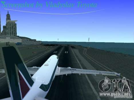 Airbus A320-214 Alitalia v.1.0 para vista lateral GTA San Andreas
