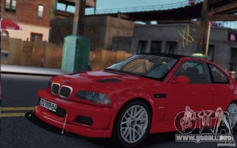 BMW M3 E46 Street Version para GTA 4 Vista posterior izquierda