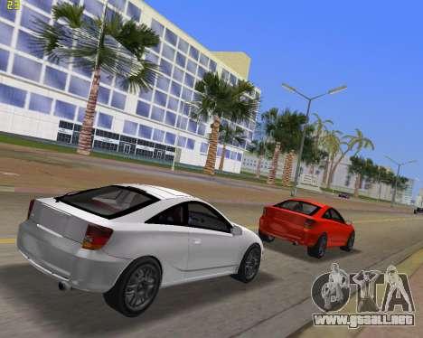 Toyota Celica 2JZ-GTE negro Revel para GTA Vice City vista lateral izquierdo