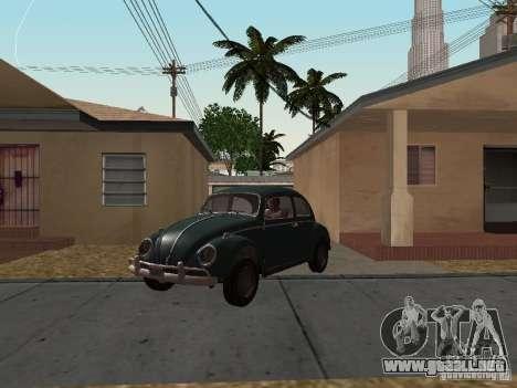 Volkswagen Beetle para GTA San Andreas vista posterior izquierda