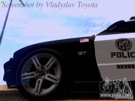 Ford Mustang GT 2011 Police Enforcement para vista lateral GTA San Andreas