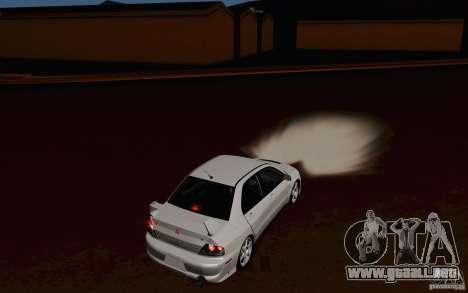 Mitsubishi Lancer Evo VIII GSR para la visión correcta GTA San Andreas