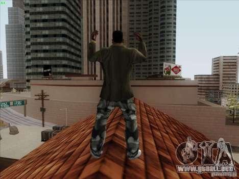 Gentleman Dance Animation para GTA San Andreas sucesivamente de pantalla