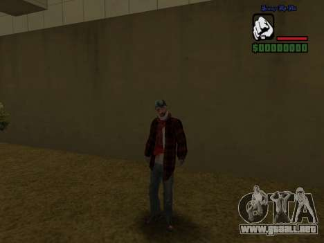 La chaqueta de vago de la piel para GTA San Andreas