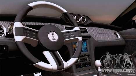 Ford Shelby GT500 Super Snake para vista lateral GTA San Andreas
