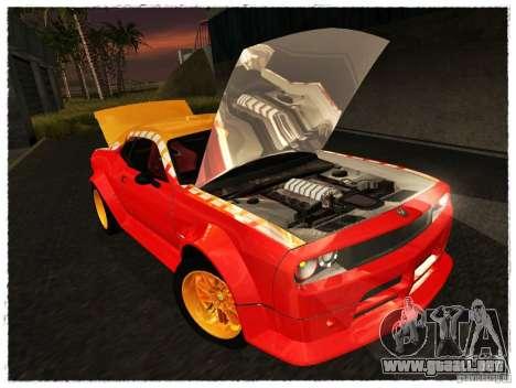 Dodge Challenger Calibri-Ace para la visión correcta GTA San Andreas