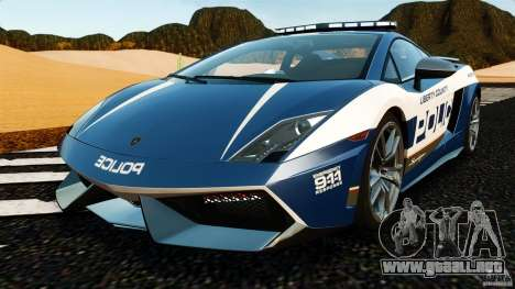 Lamborghini Gallardo LP570-4 Superleggera Police para GTA 4