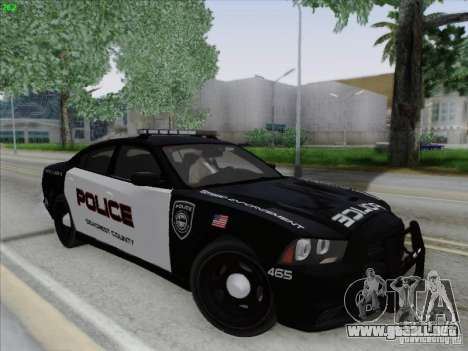 Dodge Charger 2012 Police para vista lateral GTA San Andreas
