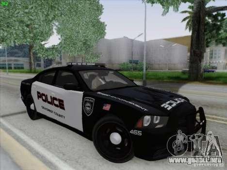 Dodge Charger 2012 Police para vista lateral GTA San Andreas