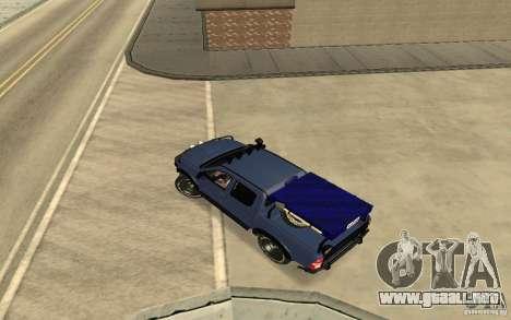 Toyota Hilux Rally Version para GTA San Andreas vista posterior izquierda