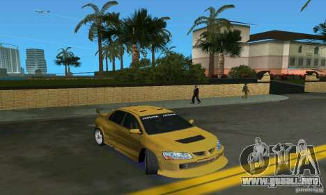 Mitsubishi Lancer Evo para GTA Vice City vista lateral izquierdo