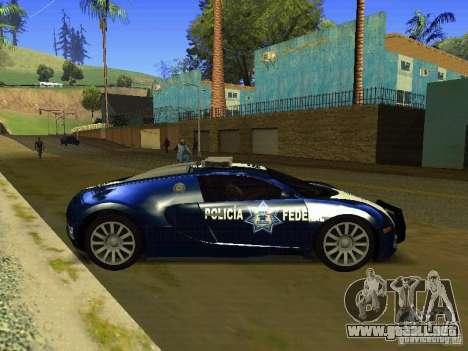 Bugatti Veyron Federal Police para GTA San Andreas left