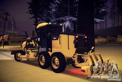 Caterpillar 140AWD Motorgrader para GTA San Andreas left