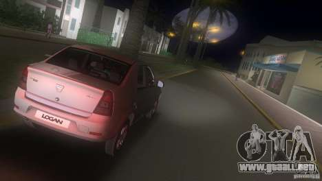 Dacia Logan para GTA Vice City vista posterior