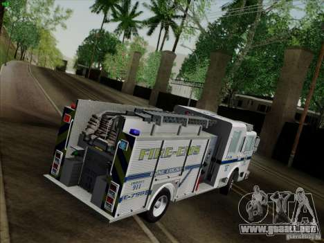 Pierce Pumpers. B.C.F.D. FIRE-EMS para visión interna GTA San Andreas